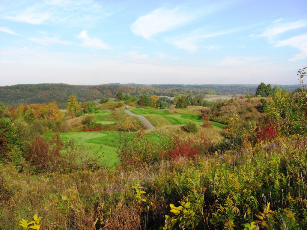 panoramic view of Hockley Valley Resort Golf Course